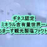 ぬちまーす観光製塩ファクトリー ギネス認定の塩工場を見学