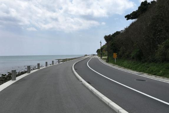 瀬長島ウミカジテラス 駐車場への道のり