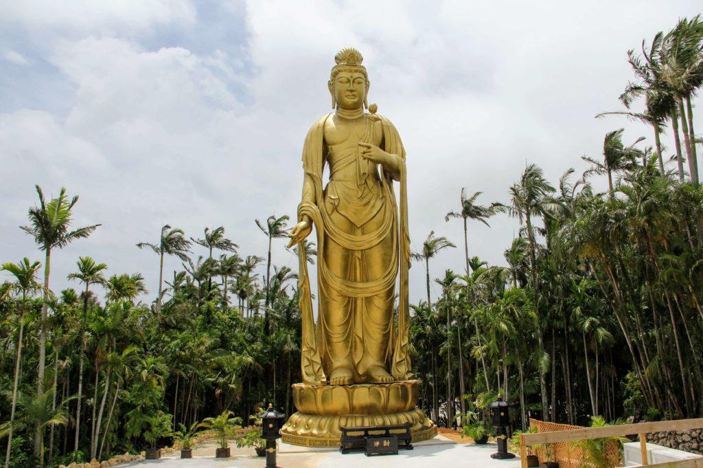 『東南植物楽園』琉球金宮観音菩薩像