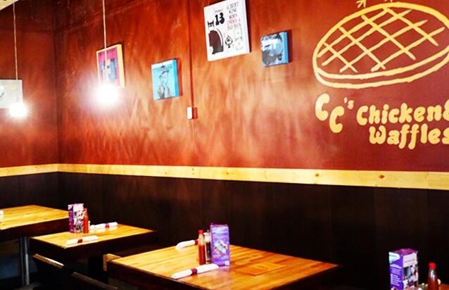 CC's Chicken&Waffles店内の様子