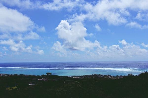 玉城城跡からの見た景色