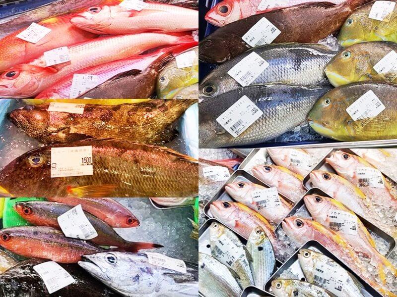 糸満漁業協同組合 お魚センター 一匹まるごとの魚
