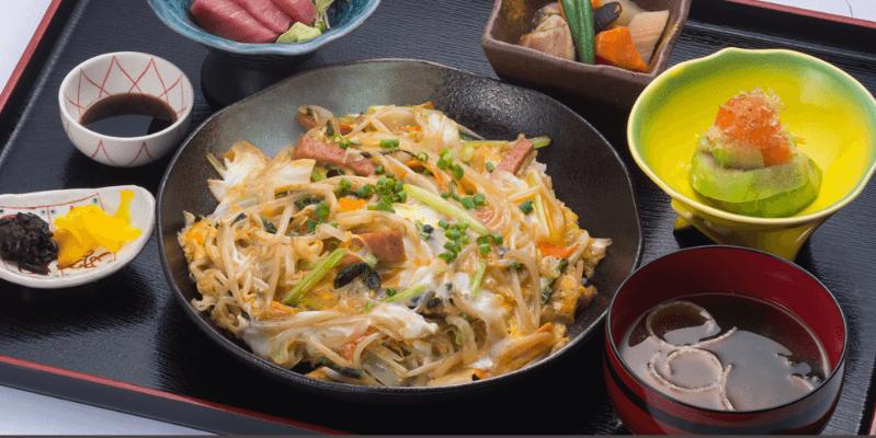 『大衆料理 南風原御殿』沖縄ちゃんぽん定食