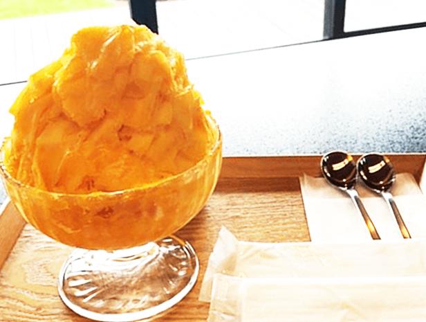 『マンゴーカフェ木の葉』100%マンゴーかき氷「木の葉」