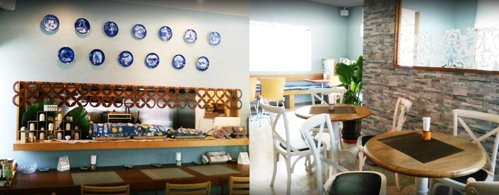 『marina's cafe(マリナーズ カフェ)』店内の様子
