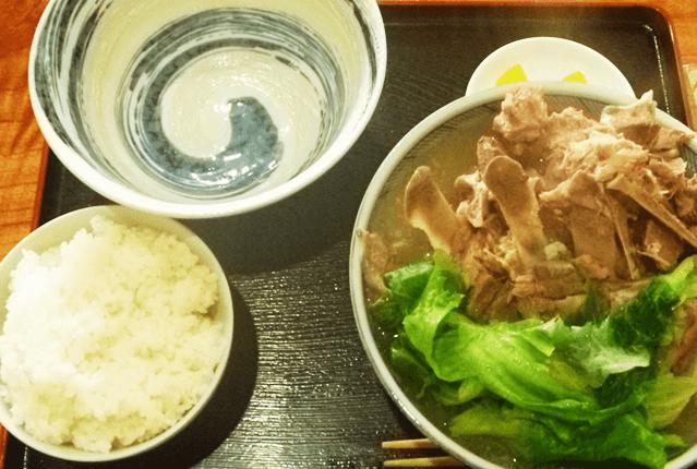 『とみぐすく食堂』骨汁定食