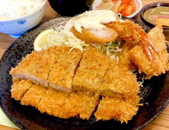 『豚喜(とんき)』ミックス(フライ)定食