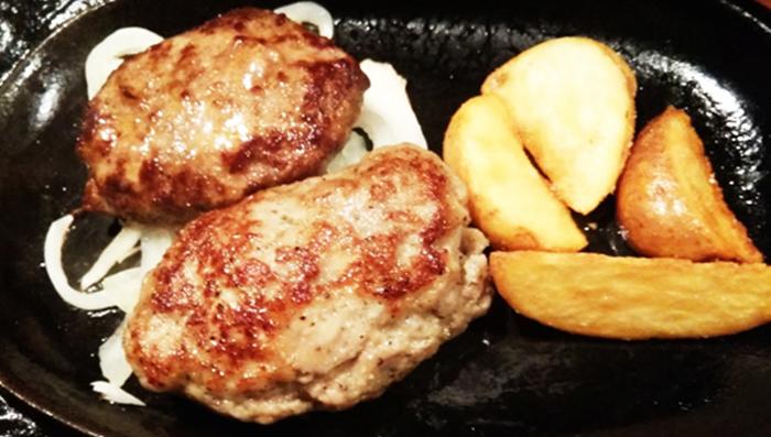 『ごりらパンチ』あぐーハンバーグ&牛ハンバーグ