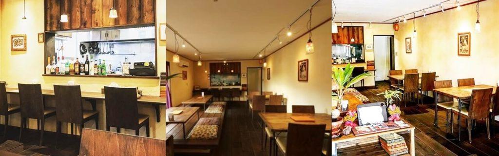『Asian Food Fuuten(アジアンフード フーテン)』店内の雰囲気