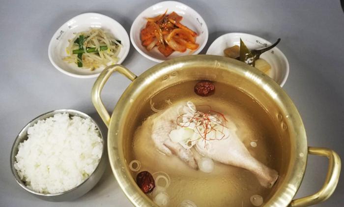 『韓国家庭料理 ぜんの豚』サムゲタンランチ