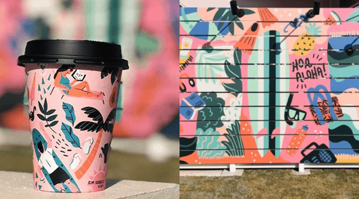 『hale'aina HOA(ハレアイナ・ホア)』コーヒーカップと外壁