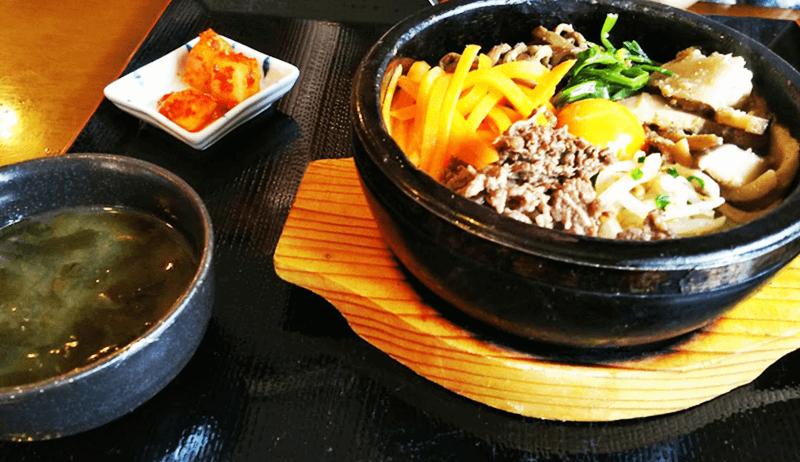 大長今(デジャングム)石焼きビビンパ【スープ+キムチ付】