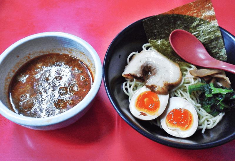 和風らぁめん はるや 特製つけ麺(赤つけ[赤胡麻しょうゆ])