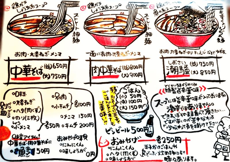 麺や 和楽 メニュー