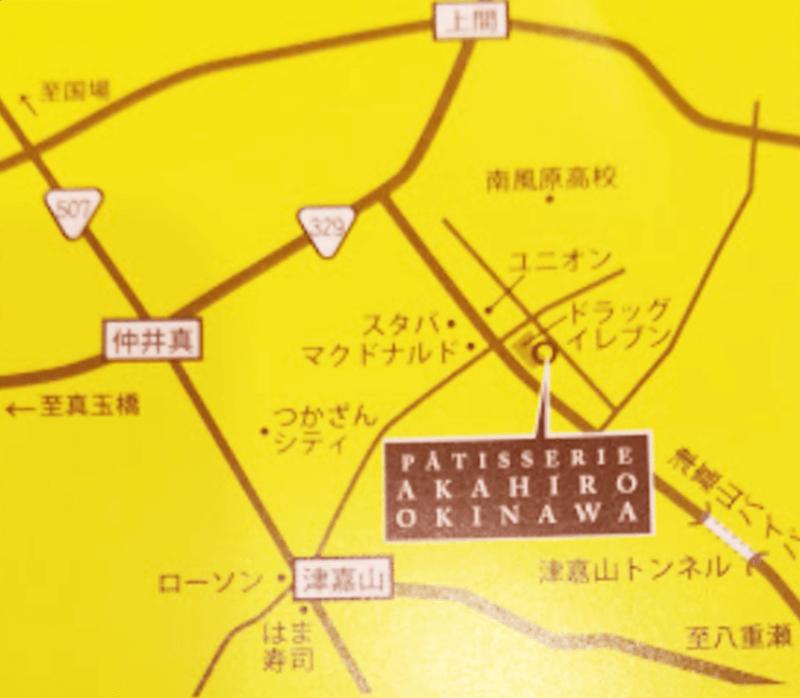 パティスリーアカヒロ 周辺地図