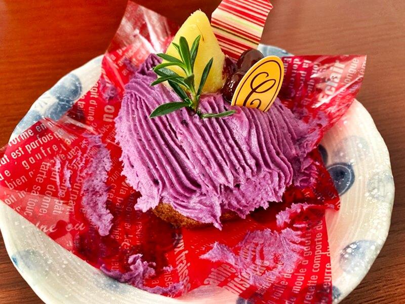 パティスリークプル 紅芋のモンブラン