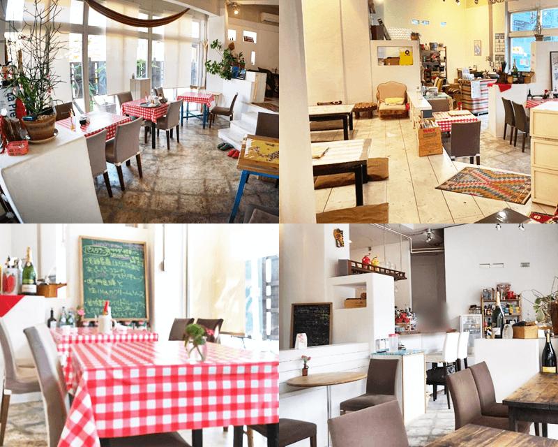 イタリア食堂ha-na 店内の雰囲気