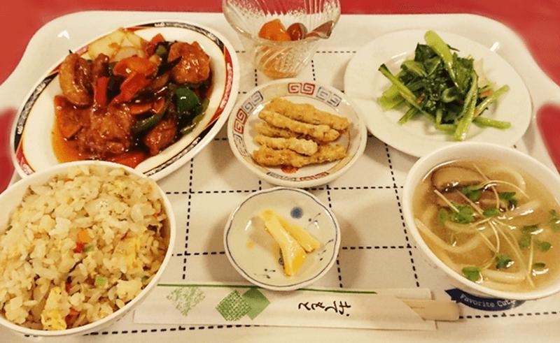 台北飯店 鶏ピリ唐ランチ