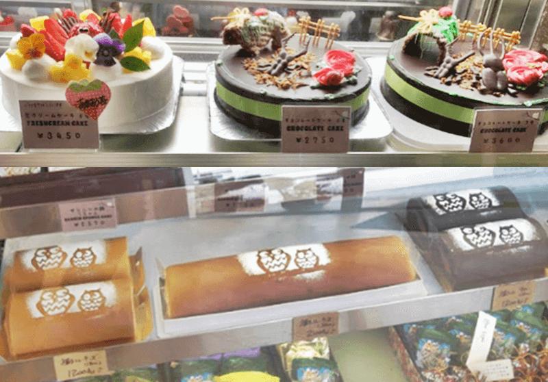 ケーキショップ アントルメ ホールケーキ、ロールケーキ