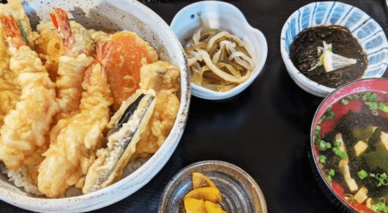 奥武島海産物食堂 天丼定食