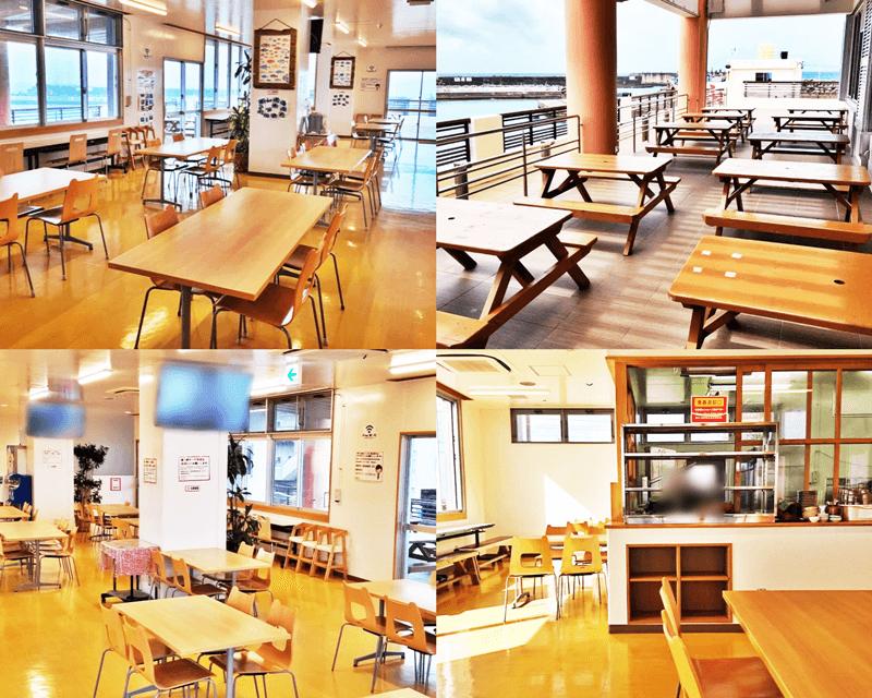 海人食堂 店内・テラス席の雰囲気