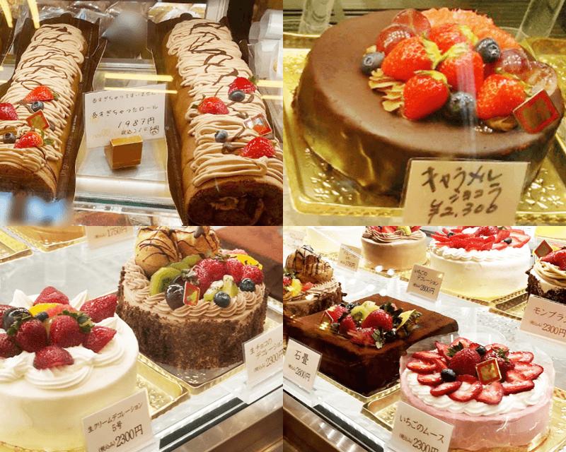 ケーキハウスさくら ロールケーキとホールケーキ