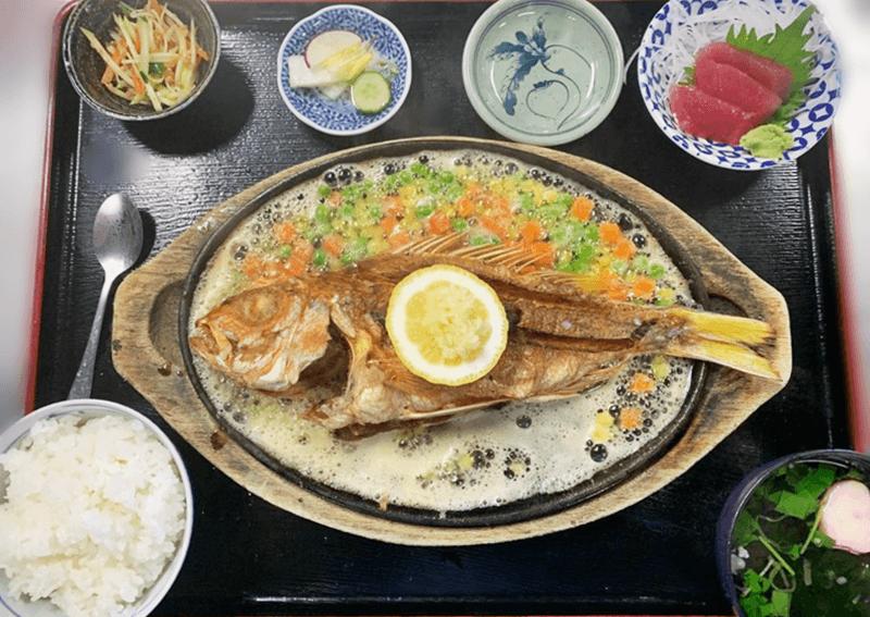 大木海産物レストラン バター焼き定食(ビタロー)