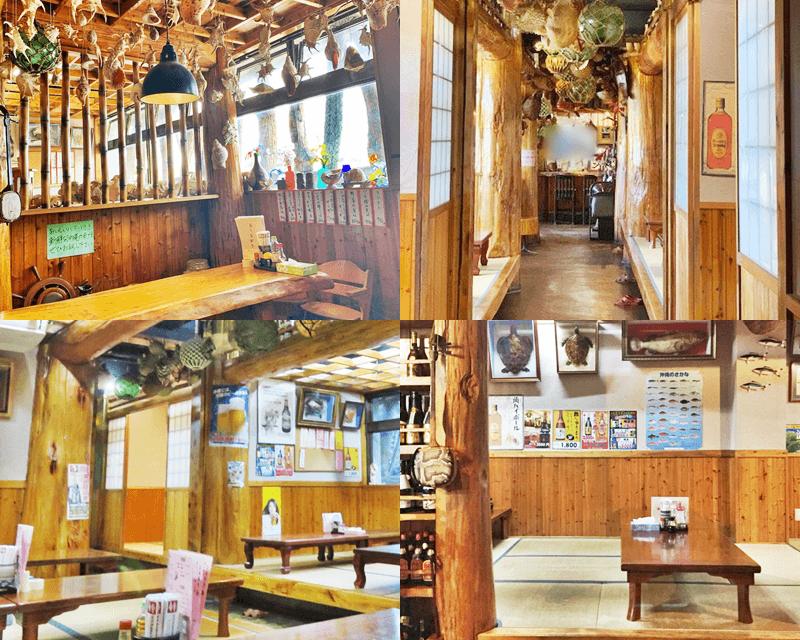 大木海産物レストラン 店内の雰囲気