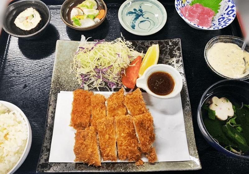 大木海産物レストラン まぐろフライ定食