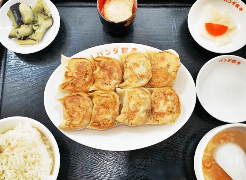 ぱんだまんま 焼き餃子定食