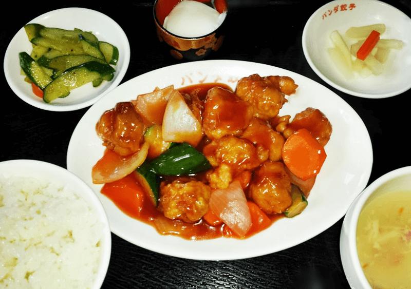 ぱんだまんま 酢鶏定食