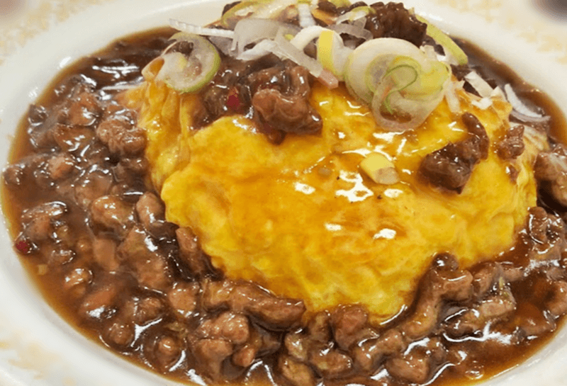中華食堂パンダ 牛玉甘辛丼