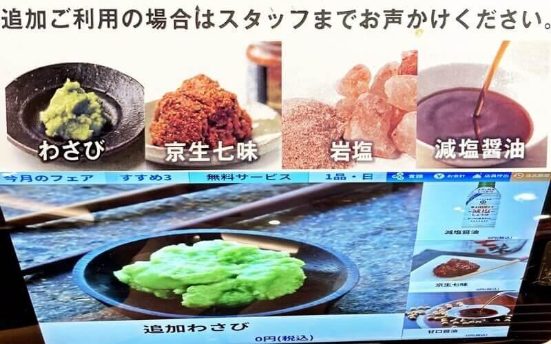 まぐろ問屋 三浦三崎港 恵み 薬味と調味料(わさび・七味・岩塩・醤油など)